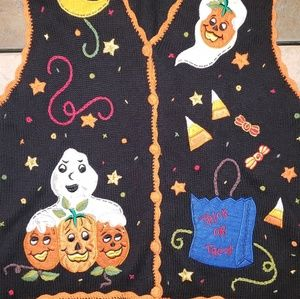 Sweaters - Vtg Ugly Halloween Sweater/ Vest
